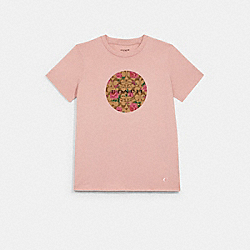 SIGNATURE FLORAL T-SHIRT - LIGHT ROSE - COACH 1517
