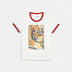 COACH │ MARVEL VINTAGE COMIC T-SHIRT - WHITE - COACH 1549