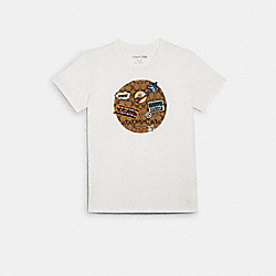 COACH │ MARVEL SIGNATURE PATCH T-SHIRT - WHITE - COACH 1552