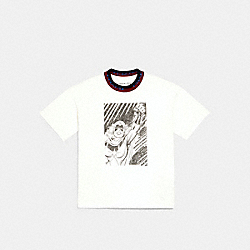 COACH │ MARVEL RIB NECK T-SHIRT - WHITE - COACH 1553
