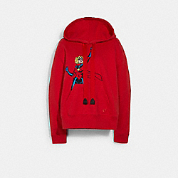 COACH │ MARVEL CAROL DANVERS HOODIE - RED - COACH 1557