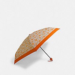 MINI UMBRELLA IN ORANGE SIGNATURE PRINT - SV/LIGHT KHAKI - COACH 1563