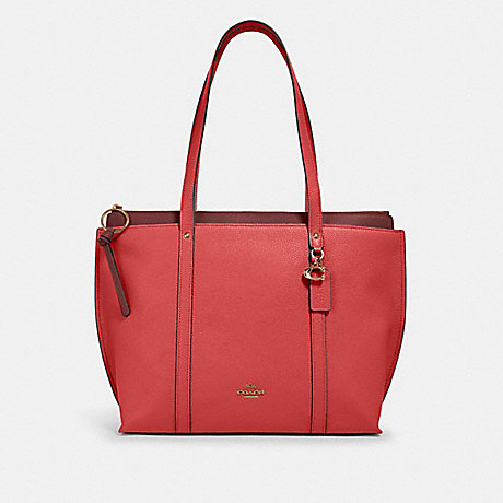 COACH MAY TOTE - IM/BRIGHT CORAL - 1573