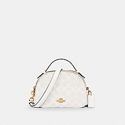 SERENA SATCHEL IN SIGNATURE CANVAS - IM/CHALK/GLACIERWHITE - COACH 1591