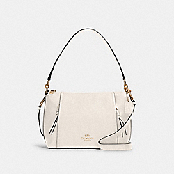 SMALL MARLON SHOULDER BAG - IM/CHALK - COACH 1597