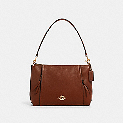 SMALL MARLON SHOULDER BAG - IM/REDWOOD - COACH 1597