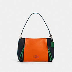 SMALL MARLON SHOULDER BAG IN COLORBLOCK - SV/MIDNIGHT SEDONA MULTI - COACH 1598