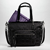 SIGNATURE SATEEN OUTLINE C BABY BAG