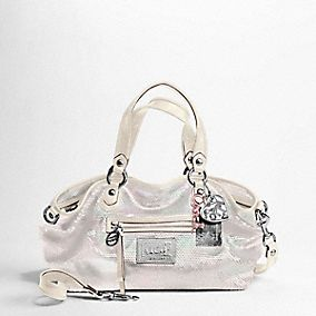 Poppy Sequins Rocker Satchel