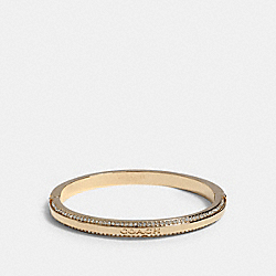 COACH PAVE HINGED BANGLE - GOLD - COACH 1657