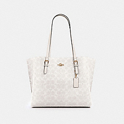 MOLLIE TOTE IN SIGNATURE CANVAS - IM/CHALK/GLACIERWHITE - COACH 1665