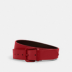 ROLLER BUCKLE CUT-TO-SIZE REVERSIBLE BELT, 38MM - QB/CRIMSON/BLACK - COACH 1667