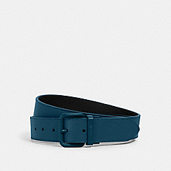 ROLLER BUCKLE CUT-TO-SIZE REVERSIBLE BELT, 38MM - QB/REEF BLUE/ MIDNIGHT NAVY - COACH 1667