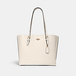 MOLLIE TOTE - IM/CHALK LIGHT SADDLE - COACH 1671