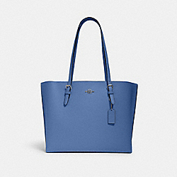 MOLLIE TOTE - SV/STONE BLUE/DARK BURGUNDY - COACH 1671