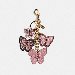 BUTTERFLY CLUSTER BAG CHARM - IM/ROSE MULTI - COACH 1674