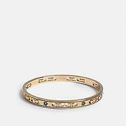 SIGNATURE FLOWER BANGLE - GOLD - COACH 1693