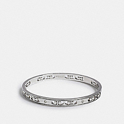 SIGNATURE CRYSTAL BANGLE - SILVER - COACH 1707
