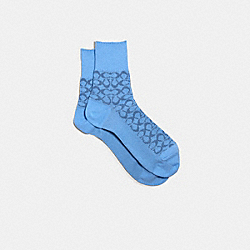 SIGNATURE COLOR SOCKS - BLUE - COACH 170