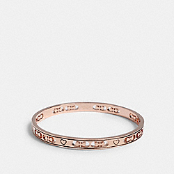 SIGNATURE HEART BANGLE - ROSEGOLD - COACH 1718