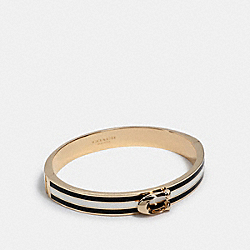 SIGNATURE BANGLE - GD/BLACK/CHALK - COACH 1729