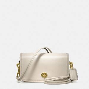 Coach Classics Leather Shoulder Purse B4/white