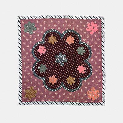 沙漠花卉圖案大型圍巾