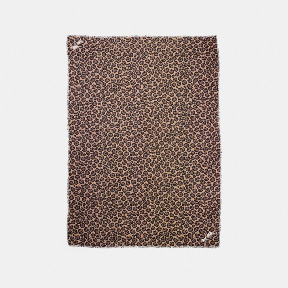 Coach All Over Wild Beast Printed Shawl