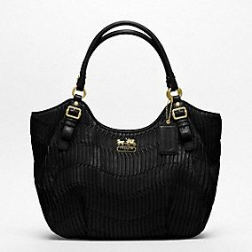 Madison Gathered Leather Abigail Shoulder Bag Review 94