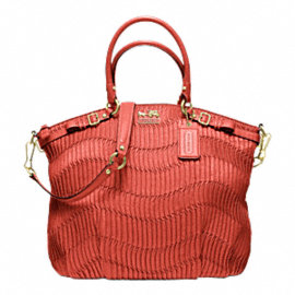 MADISON GATHERED LEATHER LINDSEY SATCHEL