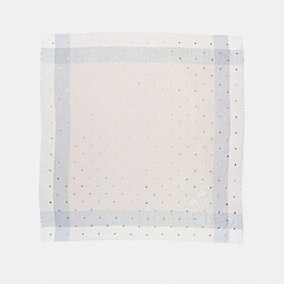 SCATTERED STARS FOIL PRINT WINDOWPANE CHALLIS