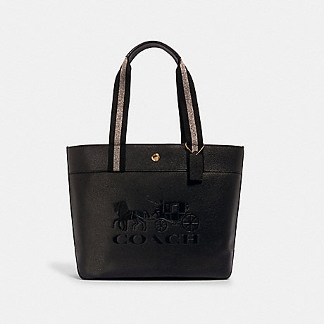COACH JES TOTE WITH HORSE AND CARRIAGE - IM/BLACK - 1896