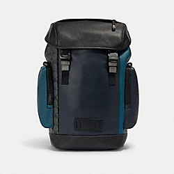 RANGER BACKPACK WITH SIGNATURE CANVAS PIECED PATCHWORK - QB/NAVY/REEF BLUE MULTI - COACH 1903