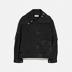 MULTI TAB DENIM JACKET - BLACK - COACH 1922