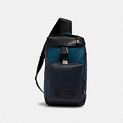 RANGER PACK WITH SIGNATURE CANVAS PIECED PATCHWORK - QB/NAVY/REEF BLUE MULTI - COACH 1949