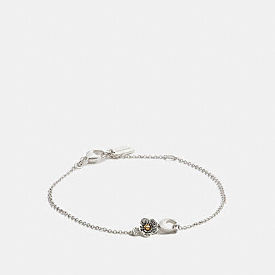STERLING SILVER SIGNATURE WILLOW FLORAL BRACELET