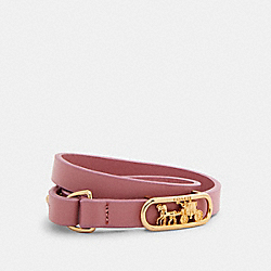 HORSE AND CARRIAGE CUT OUT BRACELET - GD/TRUE PINK - COACH 1983