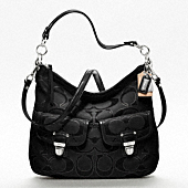 POPPY METALLIC SIGNATURE SWING HOBO