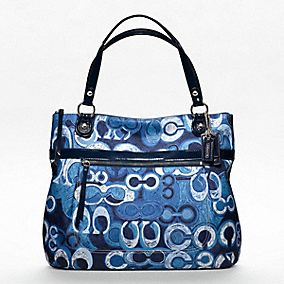 ... shopping at coach coach poppy denim print glam redefined by our