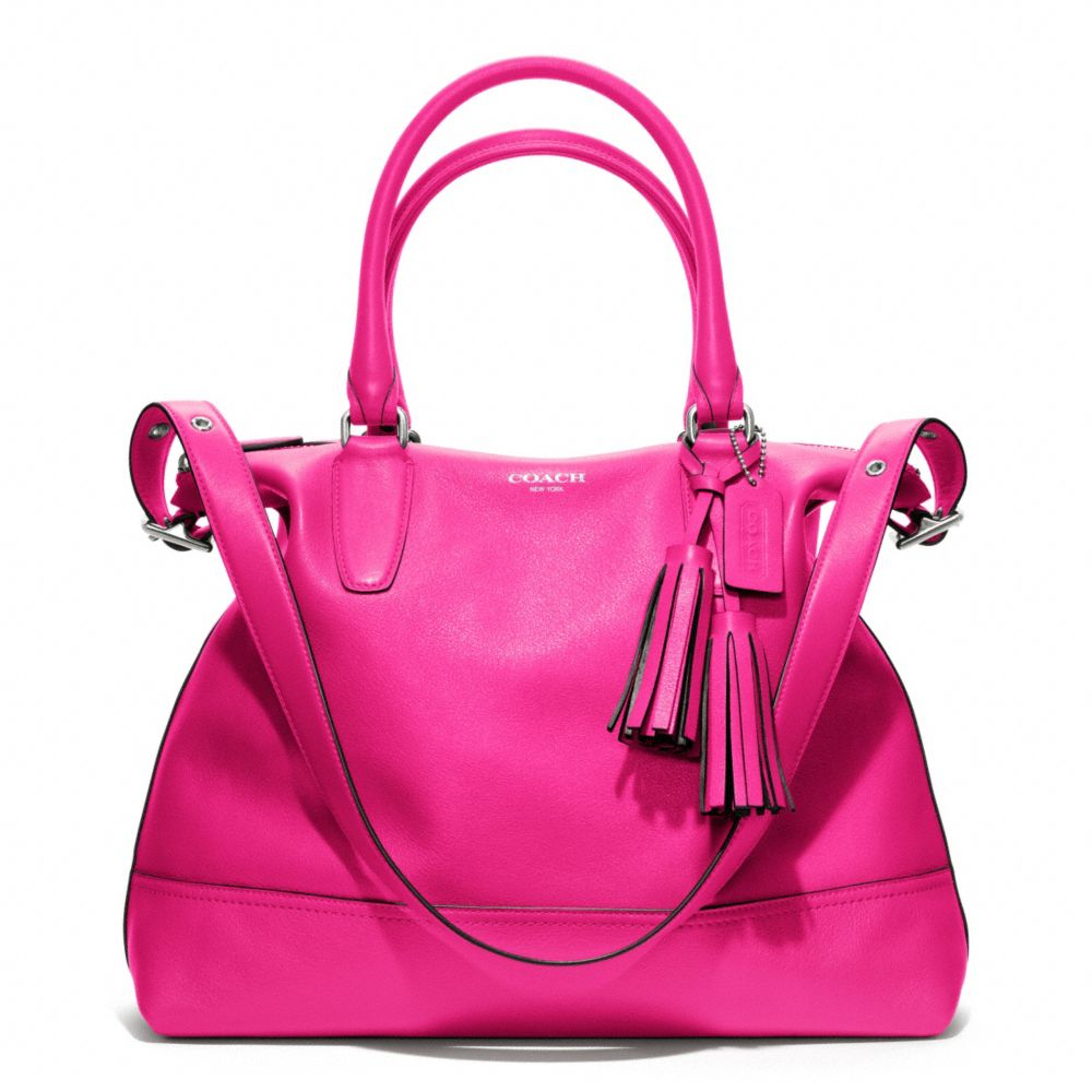 Coach - Legacy Leather Rory Ns Satchel Purse in Fuchsia