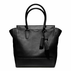 Coach Legacy Leather Tanner Tote silver/black