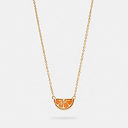 ORANGE SLICE NECKLACE - GD/ORANGE - COACH 1993