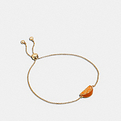 ORANGE SLICE SLIDER BRACELET - GD/ORANGE - COACH 1994