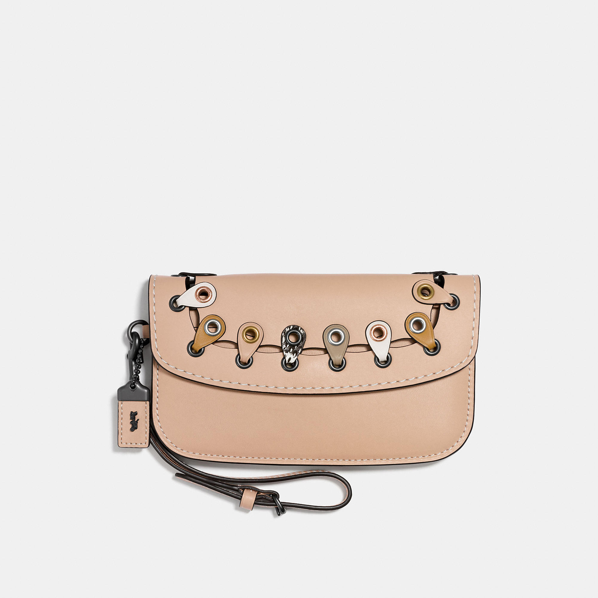 Coach Clutch With Exotic Link Detail