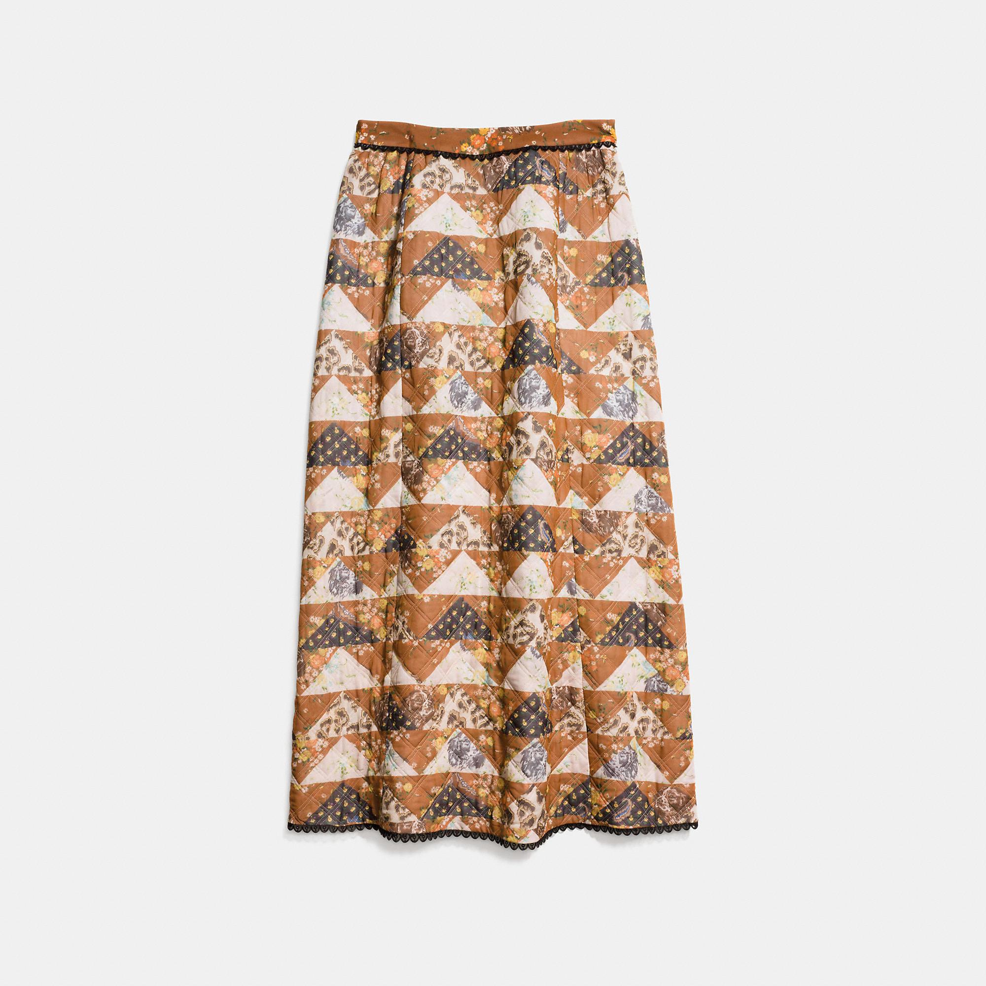 Coach Patchwork Maxi Skirt