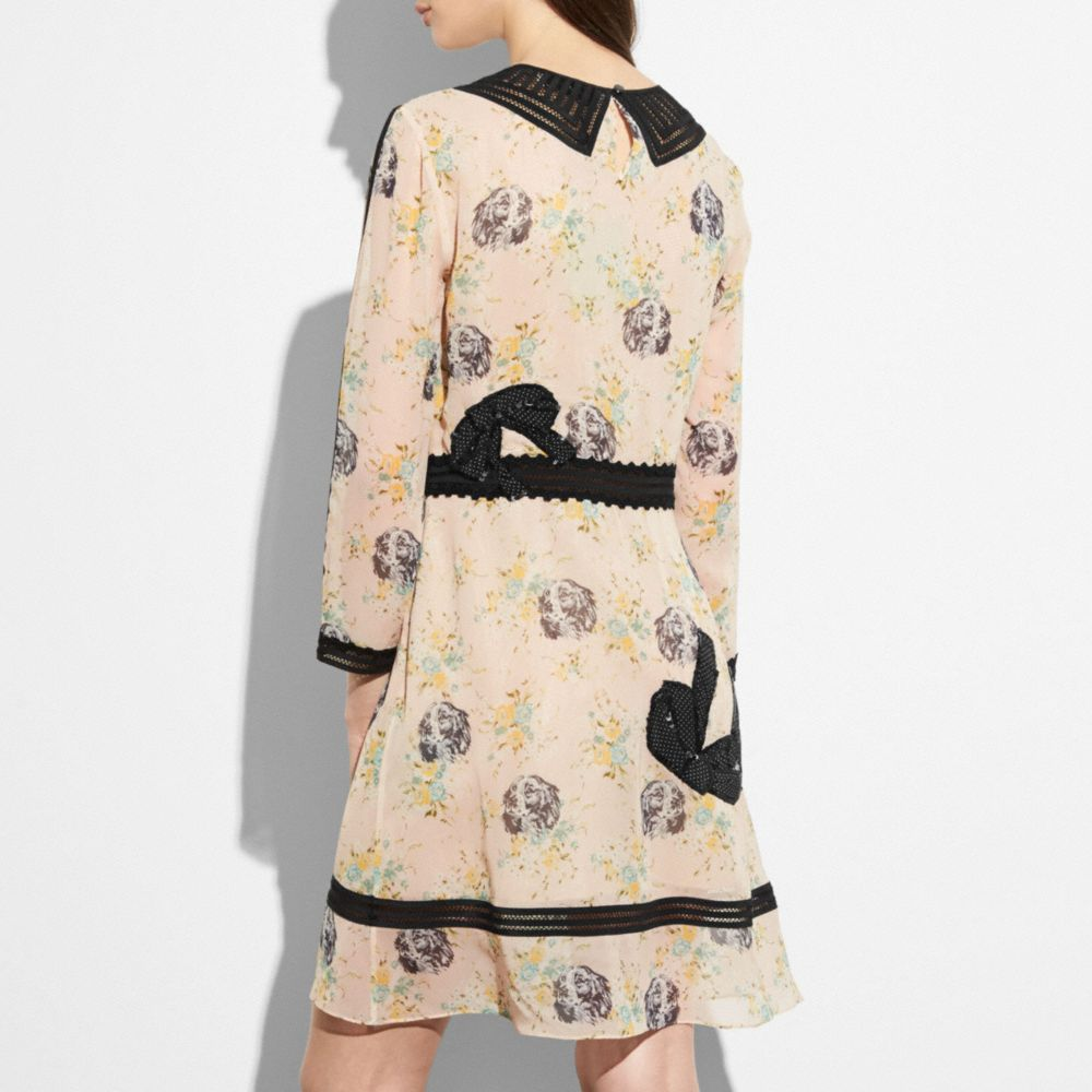 Coach Embroidered Prairie Dog Rose Dress Alternate View 2