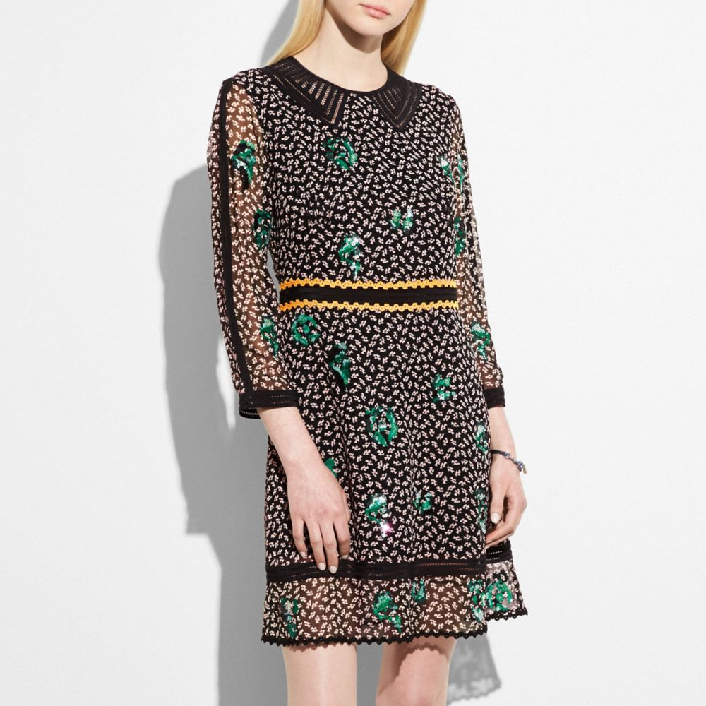Coach Embroidered Graphic Duck Dress
