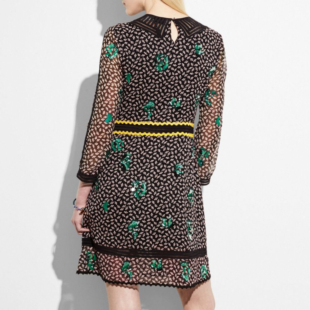 Coach Embroidered Graphic Duck Dress Alternate View 2