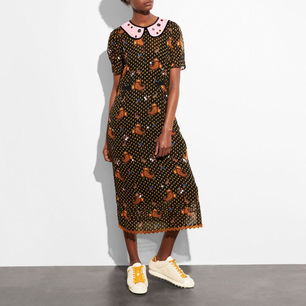 EMBROIDERED BOUQUET DRESS
