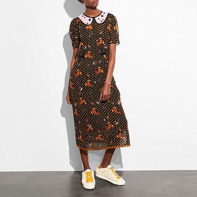 花卉刺繡洋裝